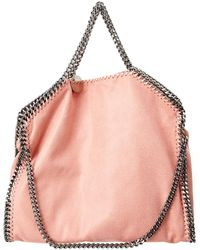 bc8acab5c378a Lyst - Stella Mccartney Falabella Shaggy Deer Fold Over Tote in Pink