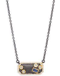 Freida Rothman - Cubic Zirconia & Sterling Silver Mosaic Pendant Necklace - Lyst