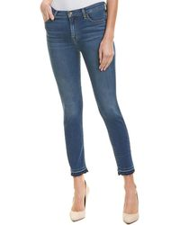7 For All Mankind - 7 For All Mankind Gwenevere Bright Bristol High-rise Ankle Cut - Lyst