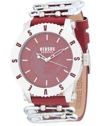 Versus - Water Resistant Stainless Steel Leather-strap Watch - Lyst