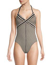 Robin Piccone - Carmen One-piece Stripe Swimsuit - Lyst