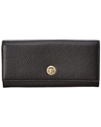 Versace - Medusa Continental Leather Wallet - Lyst