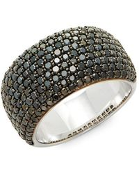 Effy - Caviar Diamond, Black Diamond & 14k White Gold Band Ring - Lyst