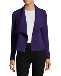 Anne Klein - Asymmetrical Zip Jacket - Lyst