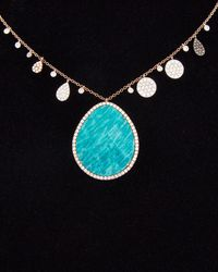 Meira T - 14k & Silver 14.12 Ct. Tw. Diamond & Blue Amazonite Necklace - Lyst