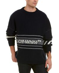 Off-White c/o Virgil Abloh Logo Distressed Sweater