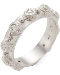 Armenta - Sterling Silver And Diamond Bezel Stack Ring - Lyst