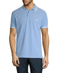 Brooks Brothers - Ox Pique Tipped Cotton Slim Fit Polo Shirt - Lyst
