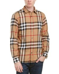 Burberry - Salwick Check Cotton Flannel Shirt - Lyst