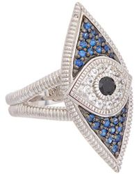 Judith Ripka - Silver 0.58 Ct. Tw. Gemstone Evil Eye Ring - Lyst