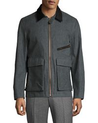 Billy Reid Henry Contrast Collar Field Jacket