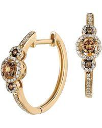 Le Vian - Chocolatier Vanilla Diamond, Chocolate Diamond And 14k Honey Gold Earrings - Lyst
