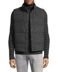 Vince - Wool Blend Quilted Vest - Lyst
