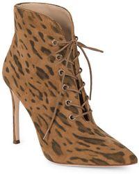 Pour La Victoire - Cari Kid Suede Leopard Boots - Lyst