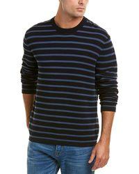 Vince - Striped Crewneck Sweater - Lyst