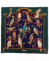"Hermès - ""les Oiseaux Du Roy,"" By Caty Latham Silk Scarf - Lyst"