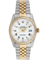 Rolex - Vintage Rolex Datejust With Factory Diamonds Watch, 36mm - Lyst
