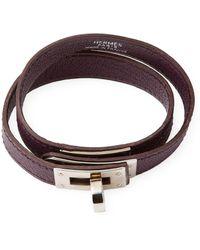 Hermès - Vintage Leather Wrap Kelly Turnlock Bracelet - Lyst