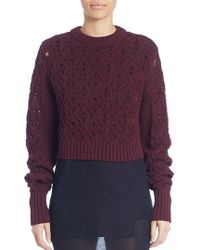 Public School - Long Sleeve Seed Stitched Sweater - Lyst