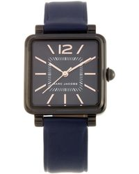 Marc Jacobs | Vic Ip Stainless Steel & Leather Watch, 30mm | Lyst