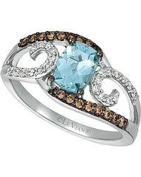 Le Vian - ? 14k 0.99 Ct. Tw. Diamond & Aquamarine Ring - Lyst