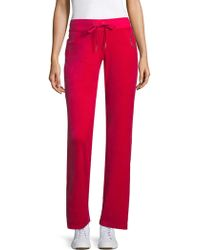 Juicy Couture - Lux Chains Velour Trackpants - Lyst