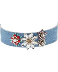 Cara Couture Jewelry - Trimmed Flower Choker - Lyst