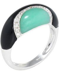 Estate Fine Jewelry - Diamond & Onyx Ring - Lyst