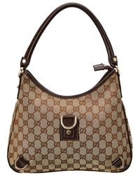 2ff6247a448 Gucci - Brown Gg Supreme Canvas Abbey D-ring Hobo Bag - Lyst