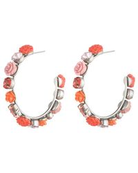 DANNIJO - Silver Plated Crystal Resin Hoops - Lyst