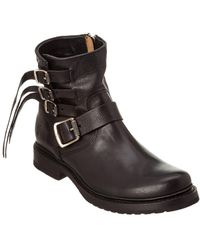 Frye - Women's Veronica Strap Leather Bootie - Lyst