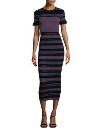 Torn By Ronny Kobo - Stripe Bodycon Dress - Lyst