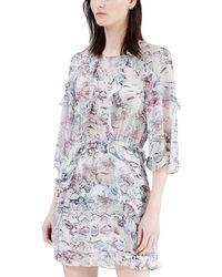 IRO - Floral Mini Linen Dress - Lyst