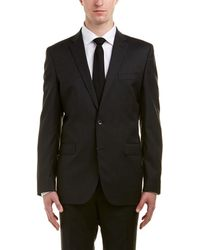 Kenneth Cole Wool-blend Suit With Flat Front Pant