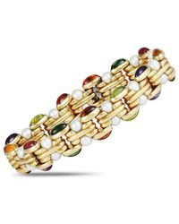 BVLGARI Bulgari 18k Gemstone & Pearl Bracelet - Metallic