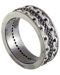Stephen Webster - Silver & Rhodium 0.62 Ct. Tw. Sapphire Ring - Lyst