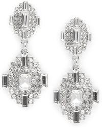 Cara - Deco Post Back Drop Earrings - Lyst