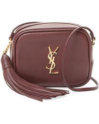 0e2b235798 Saint Laurent - Monogram Blogger Leather Shoulder Bag - Lyst