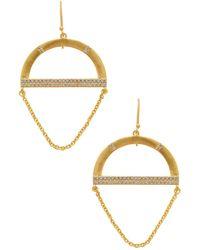 Kevia - Nubia Gold & Cz Drop Earrings - Lyst
