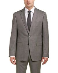 Calvin Klein - 2pc Wool Suit With Flat Front Pant - Lyst
