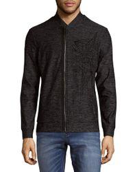 Antony Morato | Embroidered Zip Fleece Sweater | Lyst