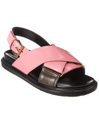 Marni - Fussbett Leather Sandal - Lyst
