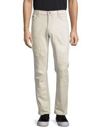 CALVIN KLEIN 205W39NYC - Straight-fit Distressed Jeans - Lyst