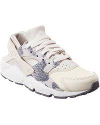 51907c69fd7d2 Nike Air Huarache Run Premium Suede Sneakers in Gray - Lyst