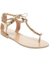 Ancient Greek Sandals - Chrysso Beaded Thong Sandal - Lyst