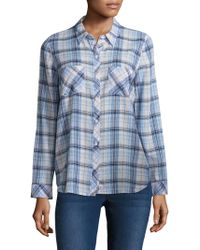 Soft Joie - Lilya Plaid Cotton Shirt - Lyst