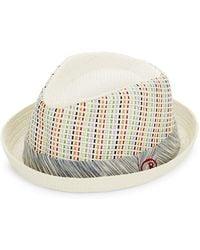 Robert Graham - Woven Pattern Fedora Hat - Lyst