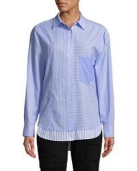 Derek Lam - Mixed Stripes Cotton Shirt - Lyst