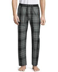 DIESEL - Plaid Cotton Pajama Pants - Lyst