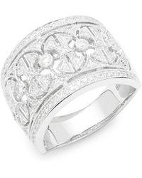 Effy - Diamond And 14k White Gold Ring - Lyst
